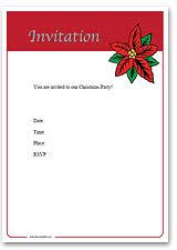 downloadable christmas party invitations templates free best
