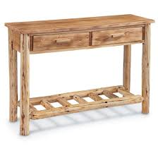 Wooden Sofa Tables by Castlecreek Log Sofa Table 675422 Living Room At Sportsman U0027s Guide