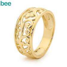 gold bands rings images Gold rings bee jewellery jpg