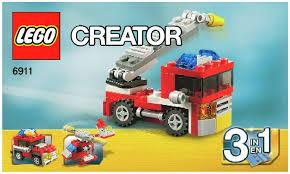 truck instructions creator fire truck instructions 6911 creator