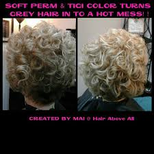 perm for grey hair soft perm tigi color turns grey hair into a hot mess created by