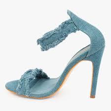 Light Blue High Heels Denim Stiletto High Heel Truffle Collection