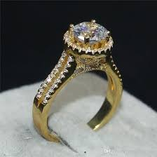 real wedding rings images Best luxury jewelry real 100 925 sterling silver 18k gold jpg