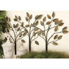 Twig Wall Decor 15 In X 50 In Multi Colored Iron Leaf And Branch Metal Wall