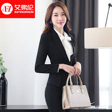 buy ms business interview suits women wear suits overalls female