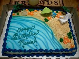 great cake for summer bdays beach or luau theme available