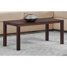 coffee table parsons large tobacco brown coffee table pier 1
