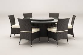 windsor 1 7 metre round brown rattan dining table and 6 dining