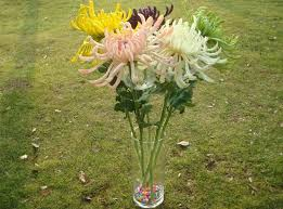 Flowers For Home Decor 12 Pcs 28 3 U0027 U0027 Artificial Mum Flower Pu Latex Real Touch Fake
