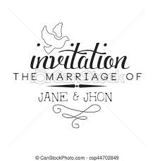carte mariage texte vecteur eps de mariage texte calligraphic noir gabarit