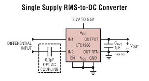 ltc1966 precision micropower delta sigma rms to dc converter