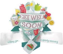 the new and speedy 3d second nature 3d pop up get well soon card wishing you a speedy