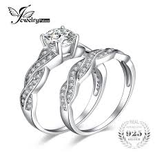 engagement rings silver images Jewelrypalace infinity 1 5ct simulated diamond anniversary promise jpg