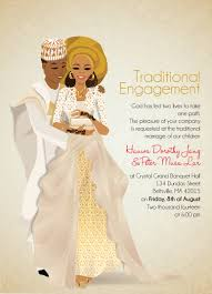 Invitation Card Marriage Nigerian Traditional Wedding Invitation Card