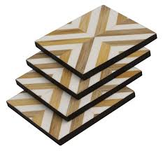 Beverage Coasters Bulk Online Square Coasters Set Of 6 In Bamboo Straw Resin