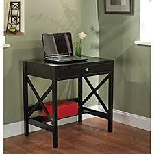 amazon com simple living black x design writing desk office desk