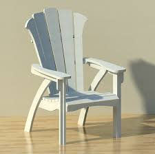 modern adirondack patio chair 3d model formfonts 3d models