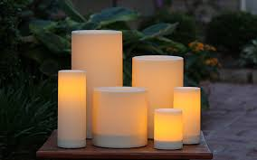set of 6 candle impressions outdoor flameless candles timer