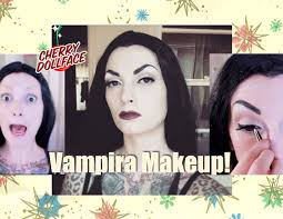 halloween makeup tutorial easy easy vampira halloween makeup tutorial cherry dollface youtube