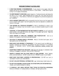 Resume Heading Examples Resume Spacing Format Resume For Your Job Application