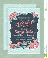 Bridal Shower Invitation Cards Designs Bridal Shower Invitation Card Template Stock Vector Image 57087810