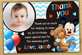 mickey mouse thank you cards baby mickey mouse thank you card baby mickey mouse chalkboard