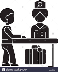 welcome desk stock vector images alamy