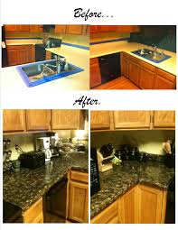 upgrade ugly plain or damaged formica countertops to look like