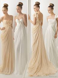 beige dresses for wedding rosa clara 2012 wedding dresses color bridal gowns and more