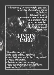 one light linkin park one more light lyrics