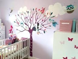 fresque murale chambre bébé fresque chambre fille fresque murale oiseaux peinture murale chambre