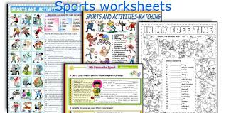 english teaching worksheets sports