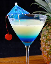 blue hawaiian cocktail pina colada tini