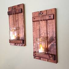 Amazon Candle Sconces Amazon Com Wall Sconce Rustic Wall Decor Wood Wall Sconce