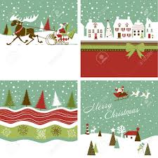 retro christmas cards set of retro christmas cards royalty free cliparts vectors and