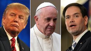 trump pope francis rubio sides with trump after pope u0027s comments cnn video