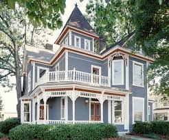 paint color ideas for ornate victorian houses blue bodies red
