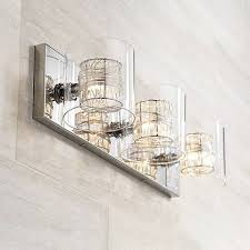 bathroom fixture light possini euro design wrapped wire 22 wide bathroom light t8917