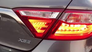 2015 toyota camry tail light 2016 toyota camry xse v6 led taillight youtube