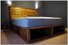 Diy Platform Bed Storage Ideas by Diy Queen Platform Bed With Gallery Including Storage Images