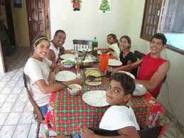 soares family in brazil day lunch