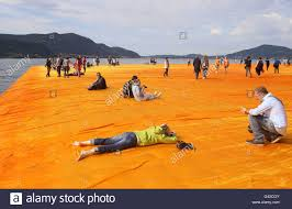 Floating Piers by Sulzano Italy 18th June 2016 Christo U0027s Floating Piers Open To