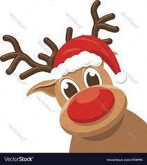 christmas deer christmas reindeer rudolph deer royalty free vector image