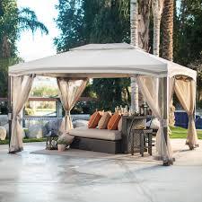 Patio Gazebo Canopy by Belham Living Catina 13 X 10 Ft Cabin Style Garden House Canopy