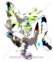 neon abstract butterfly