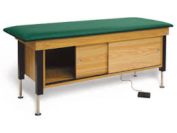 physical therapy hi lo treatment tables hausmann model 4717 hi lo cabinet treatment table high low