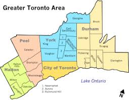 map of ta area greater toronto area
