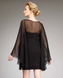 Black Cocktail Dresses With Sleeves Notte By Marchesa Full Sleeve Cocktail Dress In Black Lyst