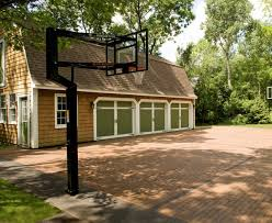 backyard basketball court with ideas game needham