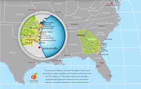 Map Of Florida And Alabama by Visit Coastal Georgia Georgia Coast Travel Association Gcta